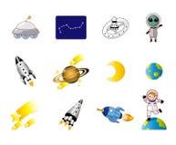 Het ruimtepictogram van het beeldverhaal Stock Foto