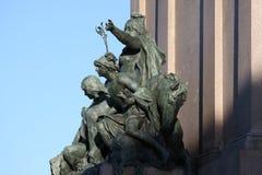 Het ruitermonument gewijd aan Giuseppe Garibaldi in het standbeelddetail van Rome - van Amerika ` s Royalty-vrije Stock Fotografie