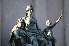Het ruitermonument gewijd aan Giuseppe Garibaldi in het standbeelddetail van Rome - van Europa ` s Royalty-vrije Stock Fotografie