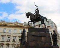 Het ruiterstandbeeld van heilige Wenceslas in Praag Royalty-vrije Stock Fotografie