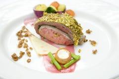 Het rundvlees en het varkensvlees van het broodje Stock Afbeeldingen