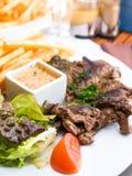 Het rundvlees van het lapje vlees stock afbeelding