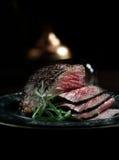 Het Rundvlees van het runderhaasbraadstuk Stock Fotografie