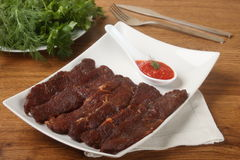 Het rundvlees van het voorgerecht Stock Afbeeldingen