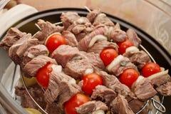 Het rundvlees van Shashlik Stock Afbeeldingen