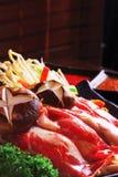 Het rundvlees van Wagyu hotpot van Japan Stock Foto's