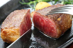 Het rundvleeslapje vlees van Wagyu Stock Foto