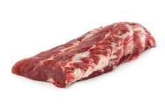 Het rundvleesvlees van het filetlapje vlees, dorsaal die rundvlees op witte achtergrond wordt geïsoleerd Stock Fotografie