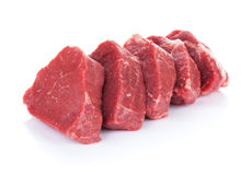 Het rundvleesvlees van het filetlapje vlees Stock Fotografie