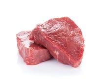 Het rundvleesvlees van het filetlapje vlees stock afbeeldingen
