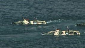 Het Russische amfibische aanval landen stock videobeelden