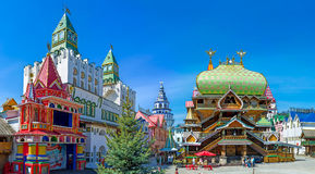 Het Russische culturele centrum in Izmailovo Stock Afbeeldingen