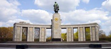 Het Russische Gedenkteken van de Oorlog in Berlijn Stock Fotografie