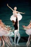 Het Russische koninklijke ballet voert het ballet van het Meer van de Zwaan uit stock afbeeldingen