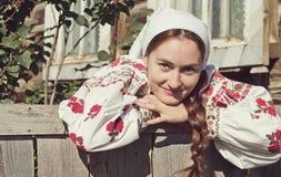 Het Russische meisje van het close-upportret Stock Afbeelding