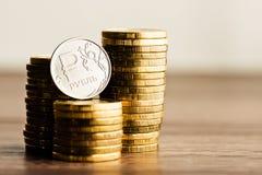 Het Russische roebelmuntstuk Royalty-vrije Stock Afbeeldingen