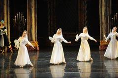 Het Russische witte kant de kleding-prins van bar het mitzvah-derde handeling-ballet Zwaanmeer stock afbeelding
