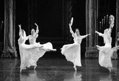 Het Russische witte kant de kleding-prins van bar het mitzvah-derde handeling-ballet Zwaanmeer royalty-vrije stock foto's