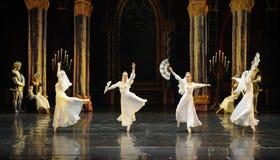 Het Russische witte kant de kleding-prins van bar het mitzvah-derde handeling-ballet Zwaanmeer stock fotografie