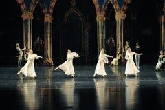 Het Russische witte kant de kleding-prins van bar het mitzvah-derde handeling-ballet Zwaanmeer royalty-vrije stock afbeeldingen