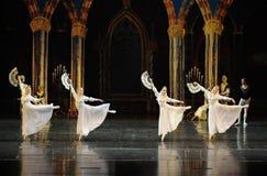 Het Russische witte kant de kleding-prins van bar het mitzvah-derde handeling-ballet Zwaanmeer royalty-vrije stock fotografie