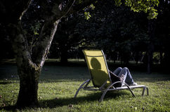 Het rusten aan de zon van de schemer Royalty-vrije Stock Afbeeldingen