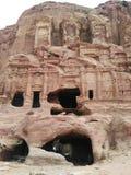 Het rusten ezel bij Petra, Jordanië royalty-vrije stock afbeeldingen