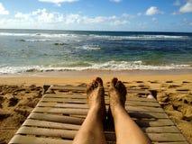 Het rusten op de kust Royalty-vrije Stock Afbeelding