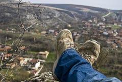 Het rusten van de reiziger Stock Fotografie