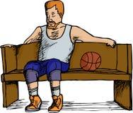 Het Rusten van de Speler van het basketbal Stock Foto's