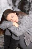 Het rusten van de vrouw Stock Foto