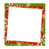Het rustieke Frame of de Grens van de Sneeuwvlok Stock Afbeelding