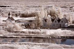 Het Rustieke Huis van IJsland Stock Fotografie
