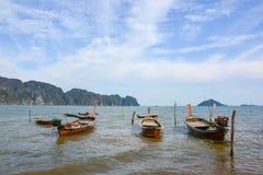 Het rustige botenschip ontspant landschap Stock Foto