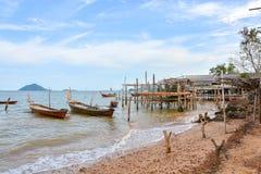 Het rustige botenschip ontspant landschap Stock Afbeelding