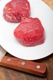 Het ruwe Filethaakwerk Mignon van het Rundvlees Royalty-vrije Stock Fotografie