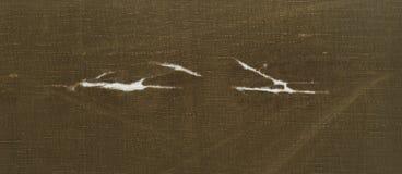 Is het ruwe gele bruine gescheurde weefsel van de Skanirovaniyatextuur geteerd zeildoek royalty-vrije stock afbeeldingen