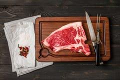 Het ruwe Lapje vlees van de vers vleesclub Stock Afbeelding