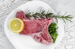Het ruwe lapje vlees van het riboog Stock Afbeeldingen