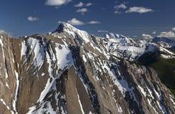 Het ruwe Snowcapped Land Alberta Canadian Rockies van Kananaskis van Bergpieken stock foto's