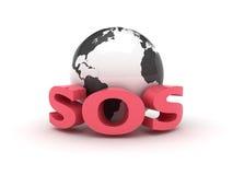 Het S.O.S. van de aarde Royalty-vrije Stock Afbeeldingen