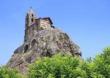 Het Saint Michel DE Aiguilhe van Chapelle stock afbeelding