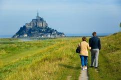 Het Saint Michel van Mont Stock Afbeeldingen