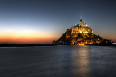 Het Saint Michel van Mont, Normandië, Frankrijk Stock Afbeeldingen