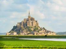Het Saint-Michel van Mont, Normandië, Frankrijk Royalty-vrije Stock Foto's