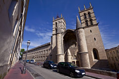 Het Saint Pierre van de kathedraal, Montpellier, Frankrijk Stock Foto