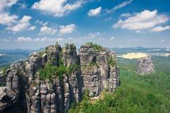Het Saksische Nationale Park van Zwitserland Stock Foto