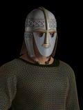 Het Saksische Portret van de Leider van de Strijder vector illustratie