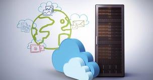 Het samengestelde beeld van digitaal geproduceerd beeld van wolk vormt 3d Stock Fotografie