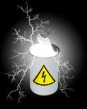 Kan van elektriciteit Royalty-vrije Stock Foto